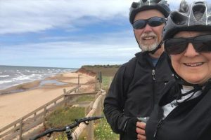 Biking on the coast